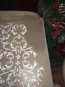 A little water and light hand easily removes the smudged paint!